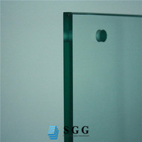 10mm thick tempered glass , heat soaked glass factory in China