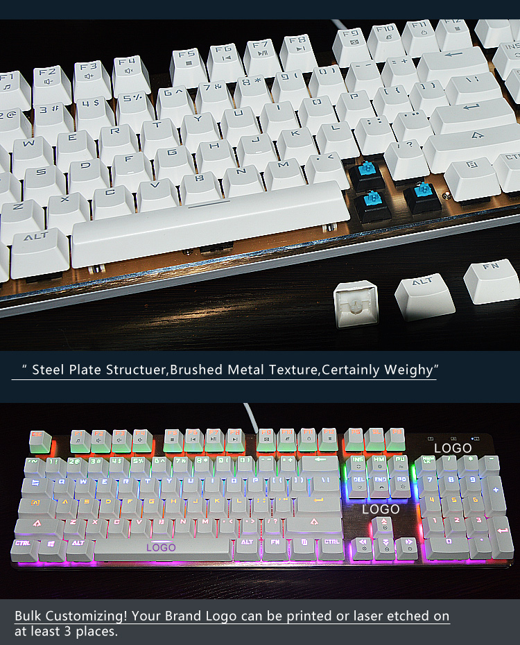 Gaming mechanical keyboards RGB multimedia keyboard
