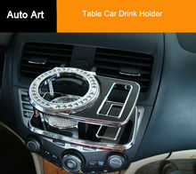 New Folding Car Auto Table Drink Cup Tray Holder Stand