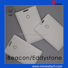 good price white case ID shape card beacon nRF52832 with long battery life for students tracking