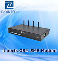 Latest mini 4 port bulk receiving and sending equipment sms gsm gateway with status report