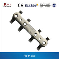 Pure Titanium Bone Plates: Rib Plate Of Human Implants