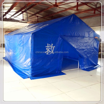 Refugee tent for earthquake use/ disaster relief tent have stock can deliver asap