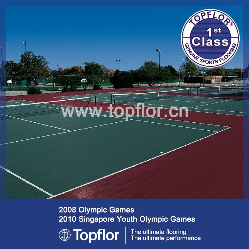 Hot sale popular multi-use modular interlocking sport court flooring for tennis court use