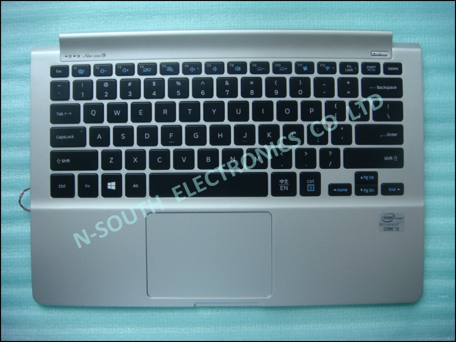 Wholesale price laptop keyboard with palmrest for samsung np90x3b np900x3d ba61-01803 US version