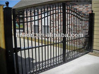 2013 manufacturer aotomatic wrought iron gate decorative design
