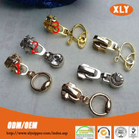 High quality factory supply #5 customized light gold metal ring slider for cloth