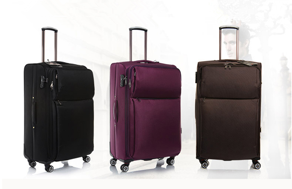 Spinner Suitcase purple luggage