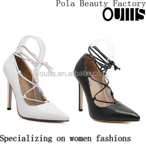 2016 Top quality high heel ankle strap dress shoes for party PJ3995