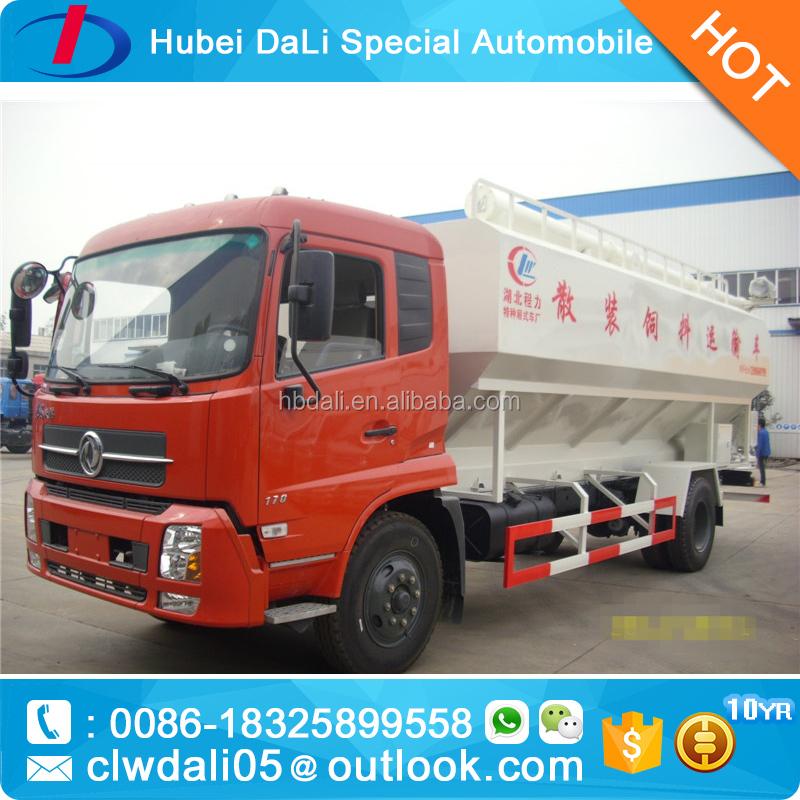 Dongfeng 16m3 4x2 bulk feed discharge truck for sale