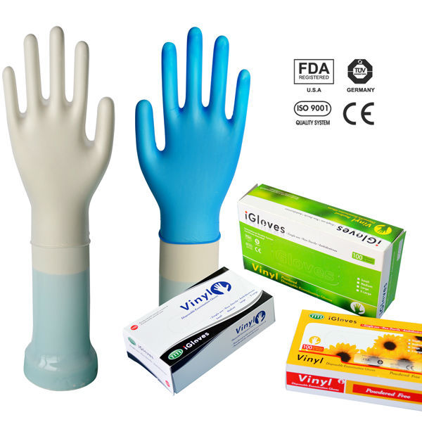 Widely used vinyl /nitrile / latex gloves with good quality and low price