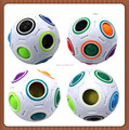 2017 New Speed Magic Ball Cube 2.6 inches Rainbow Fidget Puzzle Ball Cube, 12 Holes with 11 Different Color Small Balls in It