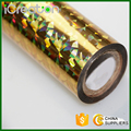 Laser Photoscope Golden Hot Stamping Foil/Film Roll Based on PET material for Plastic/PVC/Chair/Decoration/Cup/Accessories