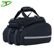 Tote outdoor cycling bicycle pannier rear rack trunk seat bag, shoulder padded bike bag