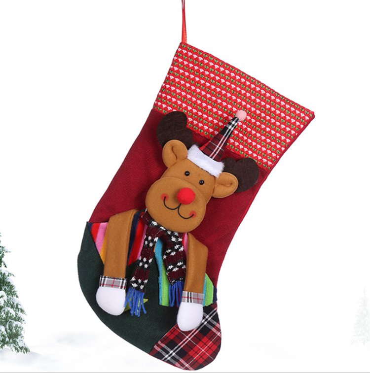 Originality Handmade knitted christmas stocking