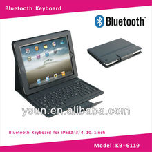 Silicon Bluetooth Keyboard for iPad2/3/4 10.1inch case
