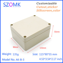 plastic outdoor electrical junction enclosure abs waterproof box