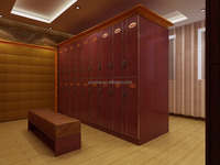 Multi-functional Changing Room Painted metal surface Compact wood gym Locker