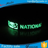 custom style one inch glow in the dark silicone wristband