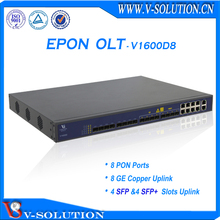 CE Certificated FTTH 1U 8 pon Layer 3 Route Gepon OLT Support SNMP Telnet CLI