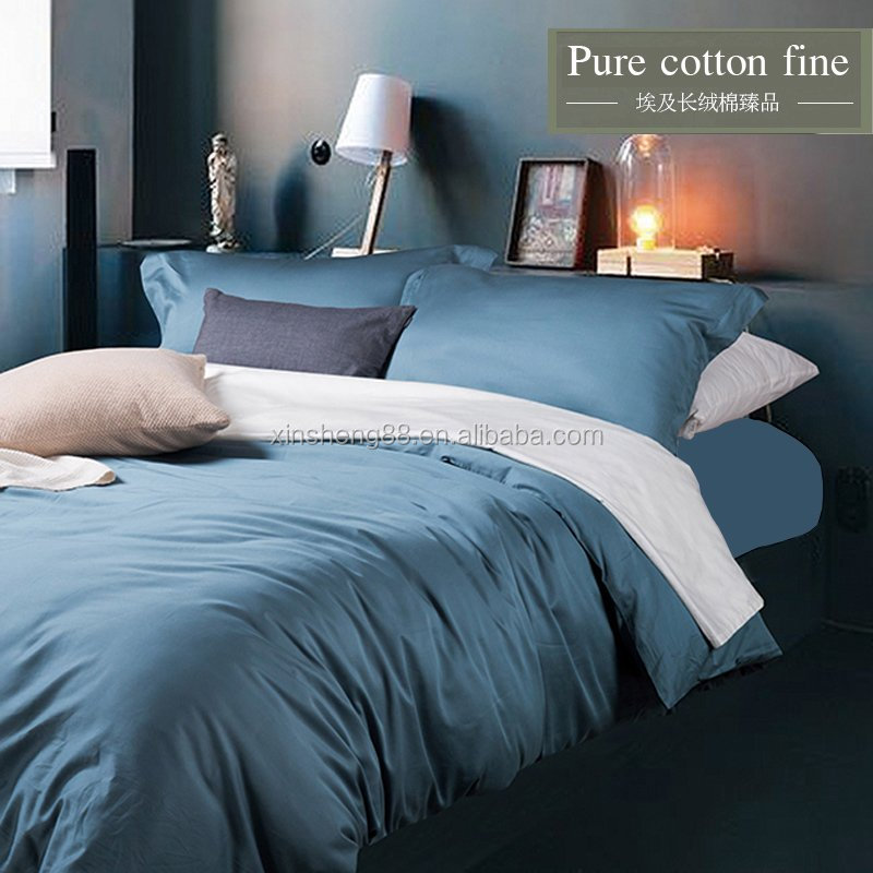 60*60s 100% cotton bedding set 4 pcs / hotel linen / bed sheet / duvet cover
