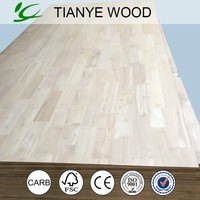 Natural rubber wood sheet finger joint lumber from tianye group