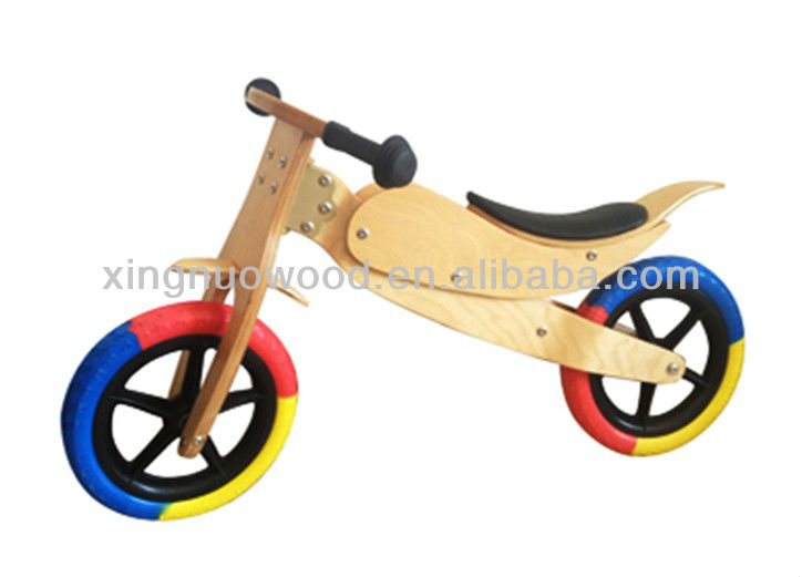 balance bike wooden children