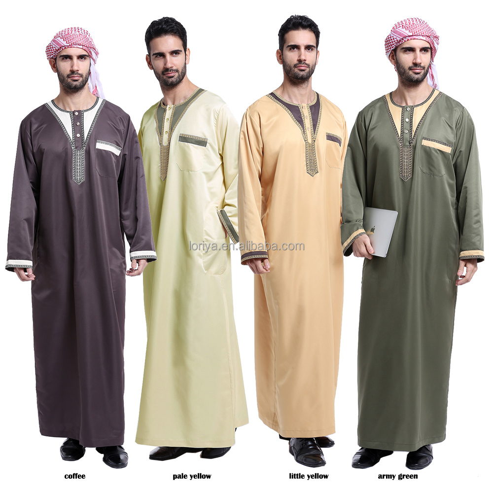 New design high quality abaya dubai men islamic clothing online shopping muslim designer men abaya