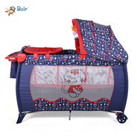 2016 good plastic baby playpen with canopy