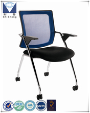 Customizable stackable movable fabric office training chair