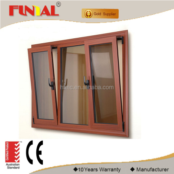 2018 New design thermal break aluminum alloy tilt&turn windows for sale