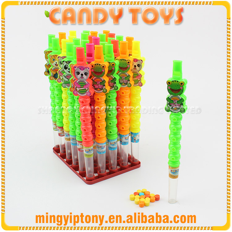 Best quality chinese candy toy plastic bear flute for children playing