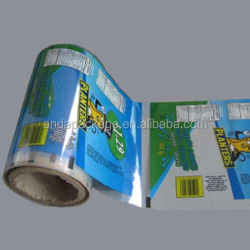 Colorful plastic film roll / Roll film for Snack package / Aluminum foil film in roll