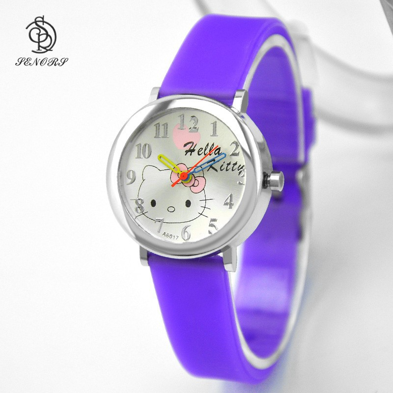 fashion colorful hello kitty watches kids Christmas watches gift watches