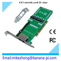2016 hot sale factory 4 ports voice and data selectable E1 (32-channel) or T1 (32-channel) asterisk card