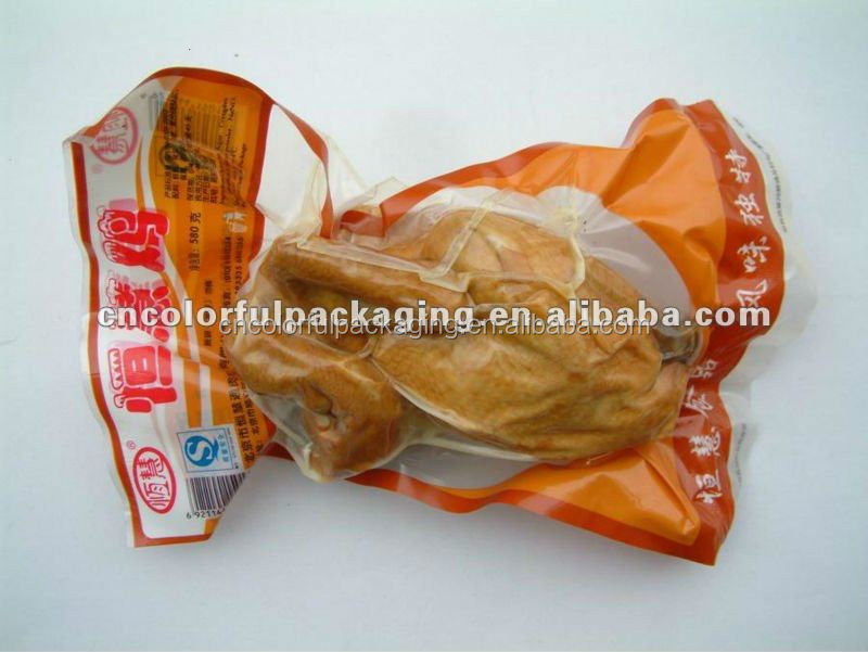 Vacuum Plastic Packaging Bag with Tear Notch for Food