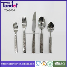 Tabder FDA handle custom design cutlery set stainless steel different kinds of flatware