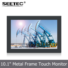Seetec industrial automation use 10.1 inch IPS lcd panel 5-Wire Resistive 16:9 touch monitor