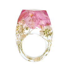 2018 new Fashion new design plastic dry flower blossom o ring rings jewelry women
