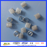 Alibaba China stainless steel metal mesh random packing ring mesh dixon ring for laboratory