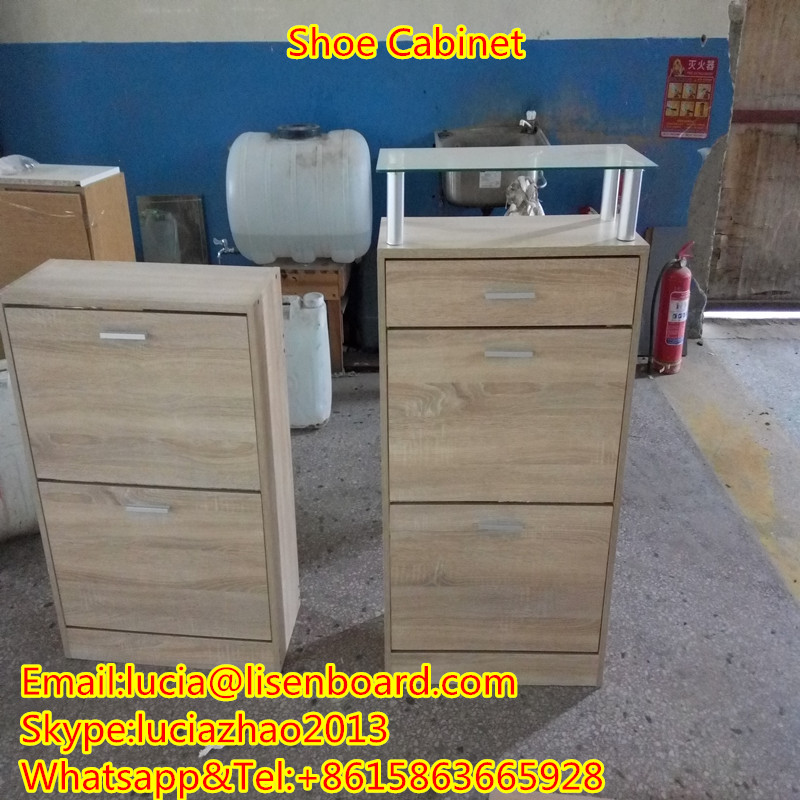 White melamine /PVC faced shoe cabinet wooden furinture