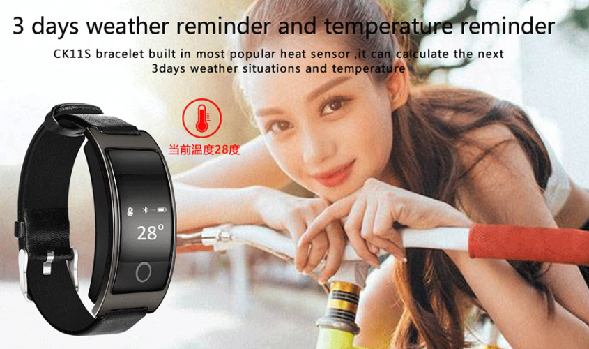 Smart Band Blood Pressure Heart Rate Monitor fitness tracker bracelet bluetooth CK11S