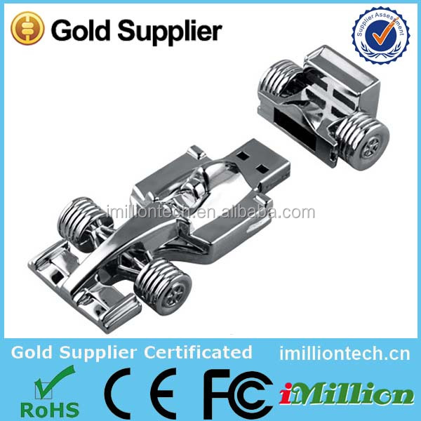 Factory whosale high quality F1 racing car usb flash drive with free logo