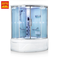 Excellent price arc type one person cabins steam room with lcd tv free standing shower enclosure
