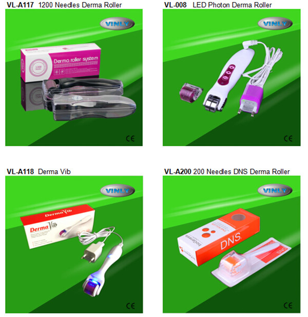 Hot sale derma roller 3 in 1 with 180/600/1200 pins (CE approval)