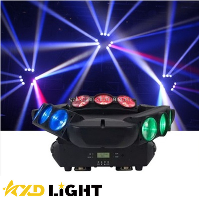 LED Spider Moving Head Beam Light Rotating Disco Effect Lighting Cheap LED DJ Lights for sale