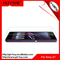HUYSHE wholesale smart phone glass film 9h milo tempered glass screen protector for sony z1 l39h