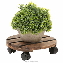 Wholesale Custom Wooden Commercial Round Plant Flower Pot Rack For Home And Garden
