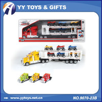 Friction Double Deck Trailer Truck Toy,Tow Truck