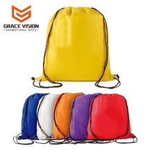 Promotional Custom Logo Branded Draw String Gym Bag For Girls